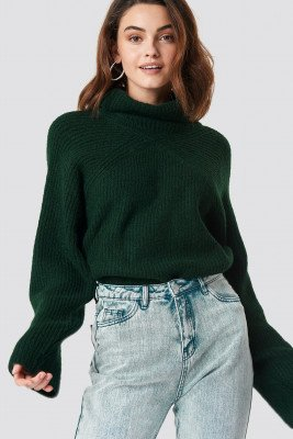 XLE the Label XLE the Label Christina High Neck Sweater - Green