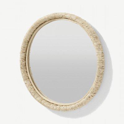 MADE.COM Tulea ronde spiegel met geweven frame, 60cm