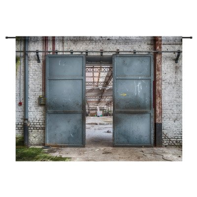 Urban Cotton Urban Cotton Wandkleed 'Spinning Doors', 145 x 190cm