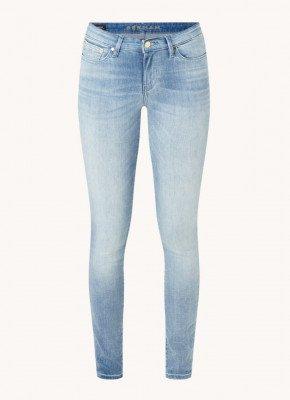 Denham Denham Spray low waist skinny fit jeans met medium wassing