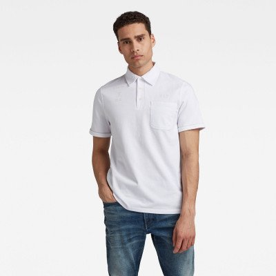 G-Star RAW Summer Contrast Polo - Wit - Heren