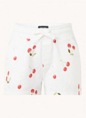 Snurk Snurk Cherries pyjamashorts van biologisch katoen met print
