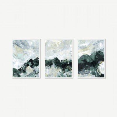 MADE.COM Natural Exploration, set van 3 ingelijste prints, door Jetty Home, A2