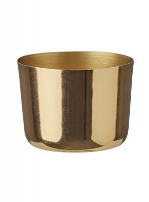 HEMA HEMA Sfeerlichthouder - 7 X 9 Cm - Goud (goud)