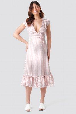 Trendyol Trendyol Tulum Striped Dress - Pink,Multicolor