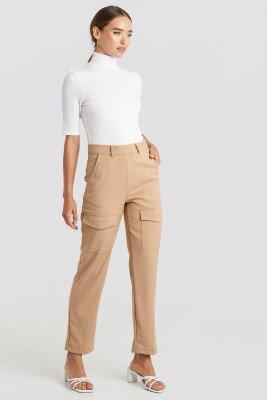 NA-KD Trend NA-KD Trend Patch Pocket Straight Pants - Beige