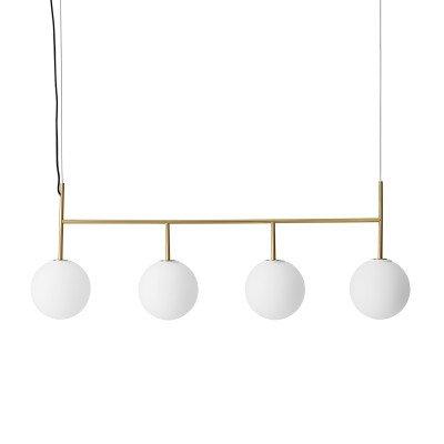 Menu Menu TR Bulb LED slinger 4-lamps messing/opaal mat