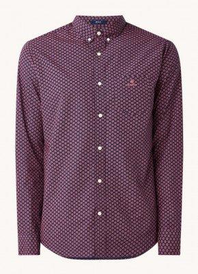 Gant Gant Regular fit overhemd met microdessin