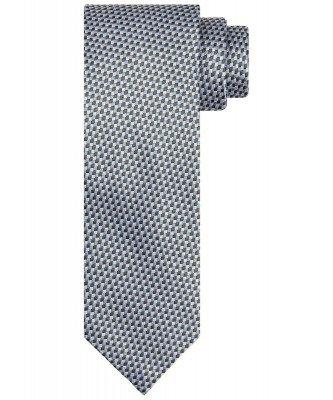Profuomo Profuomo heren groene zijden print stropdas