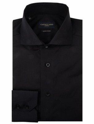 Cavallaro Napoli Cavallaro Napoli Heren Overhemd - NOS Nero Overhemd - Zwart