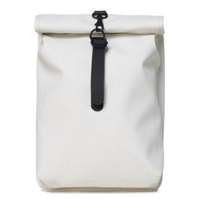 Rains Rains Roll Top Mini Backpack Off White
