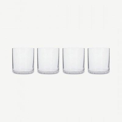 MADE.COM NUDE Glassware set van 4 glazen, transparant