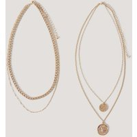 NA-KD Accessories Layered Coin And Chain Necklaces - Gold
