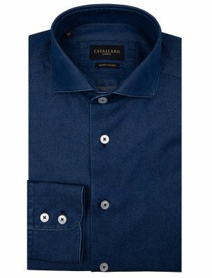 Cavallaro Napoli Cavallaro Napoli Heren Broek - Denim Shirt - Donkerblauw