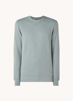 Profuomo Profuomo Sweater met ronde hals en logo