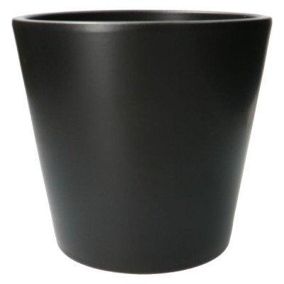 DilleenKamille Bloempot, aardewerk, zwart,Ø 24 cm