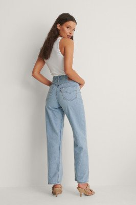 Levis Levi's Loose Straight Jeans Low Bow - Blue