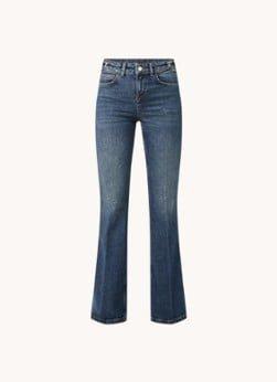 Maje Maje Pramia high waist flared fit jeans met medium wassing