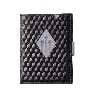 Exentri Exentri Leather Wallet Black Cube