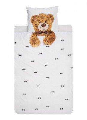 Snurk Snurk Teddy katoenen dekbedovertrekset 160TC - inclusief kussenslopen