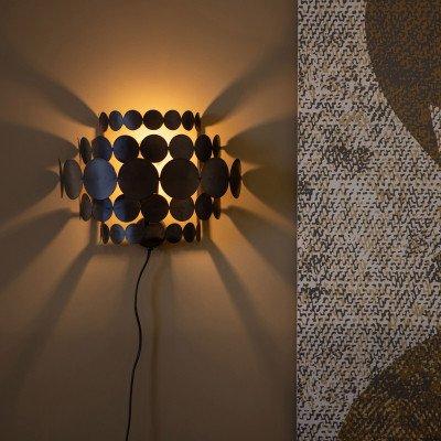 WOOOD Exclusive BePureHome Wandlamp 'Kaki' kleur Zwart