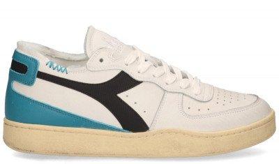 Diadora Heritage Diadora Heritage Mi Basket Row Cut Used Wit/Blauw Herensneakers