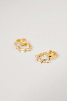 NA-KD Accessories NA-KD Accessories Glinsterende Mini-Oorringenset - Gold