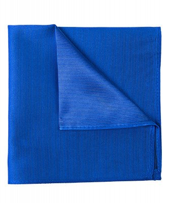 Profuomo Profuomo heren blauwe uni zijden pochet