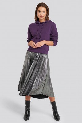 NA-KD Party NA-KD Party Midi Pleated Skirt - Silver
