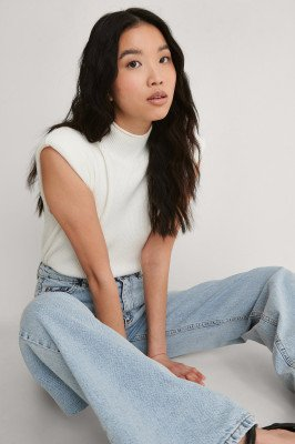 Trendyol Trendyol Wijde Jeans Met Hoge Taille - Blue