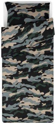 HEMA HEMA Dekbedovertrek 140x200/220 Zacht Katoen Camouflage
