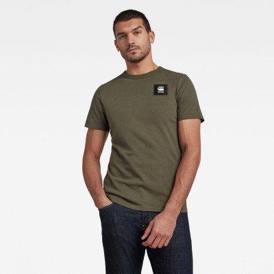 G-Star RAW Badge Logo T-Shirt - Groen - Heren
