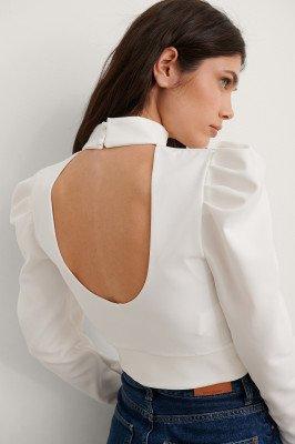 Trendyol Trendyol Blouse Met Open Rug - White