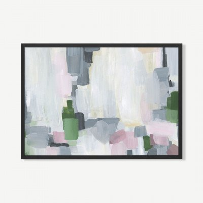 MADE.COM Muted Floral, ingelijste print, door Jetty Home, 70 x 100 cm