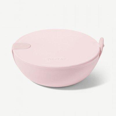 MADE.COM W&P Porter kom, keramiek en roze silicone