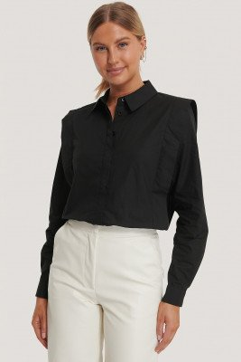 NA-KD NA-KD Shirt - Black