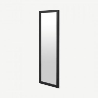 MADE.COM Keily passpiegel, 40 x 120 cm, zwart