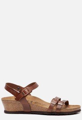 Birkenstock Birkenstock Papillio Lana sandalen met hak cognac