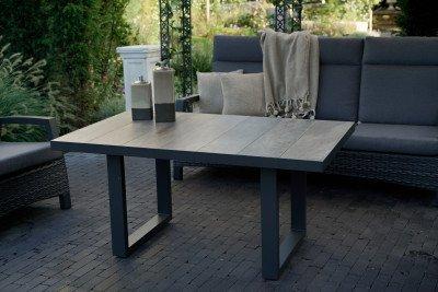 YardLife YardLife Loungetafel 'Prato Negro' 140 x 85cm
