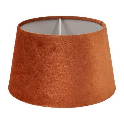 Xenos Lampenkap velvet - cognac - ø28 cm