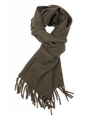 Profuomo Profuomo heren legergroen boiled wool sjaal