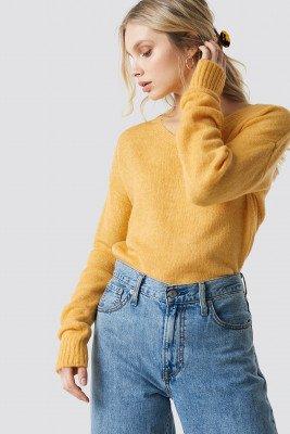 Trendyol Trendyol V-Neck Milla Sweater - Yellow
