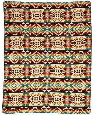 EcuaFina Mini Alpaca deken native - Chimborazo - Mix - 110 cm x 205 cm Mix