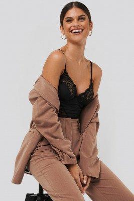 NA-KD Lingerie NA-KD Lingerie Lace Detail Bodysuit - Black