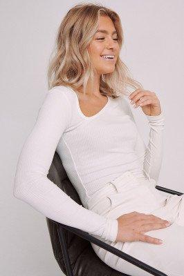 Selma Omari x NA-KD Asymmetrische Top - White