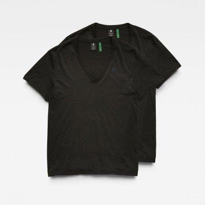 G-Star RAW Basic V-Neck T-Shirt 2-Pack - Zwart - Heren