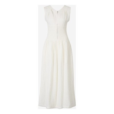 Jil Sander Ruched Waist Linen Dress