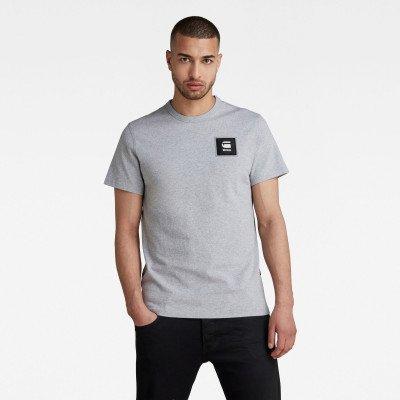 G-Star RAW Badge Logo T-Shirt - Grijs - Heren