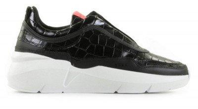 Nubikk Nubikk Lucy Boulder Croco Zwart Damessneakers