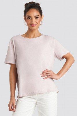 NA-KD Basic Basic Oversized T-Shirt - Pink